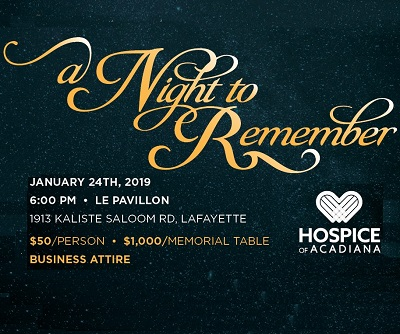 A Night to Remember - Hospice of Acadiana Gala