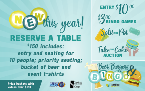 Beer, Burgers and Bingo benefiting Hospice of Acadiana